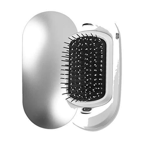 2.0 Fashionic Mini plancha de pelo Protable peine de iones negativos Masaje antiestático Peine alisador Cepillo de pelo iónico eléctrico Astilla
