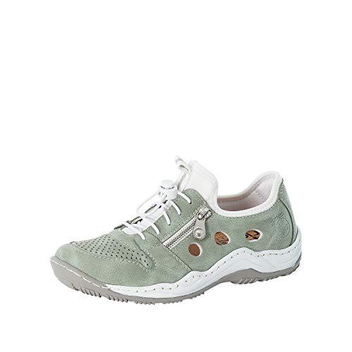 Rieker L0556 - Zapatillas bajas para mujer, color Verde, talla 43 EU