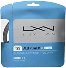 Luxilon Big Banger ALU Power Fluoro 17 Gauge - 123 Polyester (Poly) Tennis Racquet String Set in Multi-Packs - Best for Spin, Playability, and Durability (2-4-6-8-Packs)