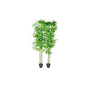vidaXL 2X Bamboo Plant Artificial Home Decor 75″ Office Corner Silk Tree Pot