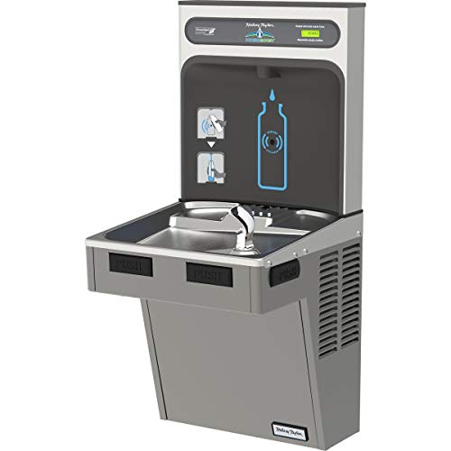 Water Cooler W/HydroBoost Water Refilling Station, Light Gray