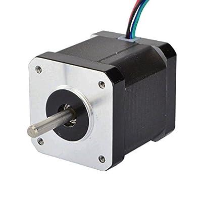 STEPPERONLINE Nema 17 Stepper Motor 0.9deg 46Ncm 2A 48mm Length 4-lead Stepping Motor for DIY CNC 3D Printer