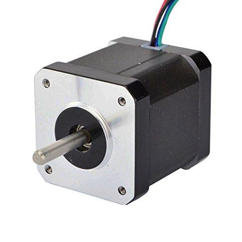 Stepperonline - Motor bipolar de paso Nema 17 (0,9 grados, 2 A, 46 Ncm, 42 x 42 x 48 mm, 4 cables, CNC)