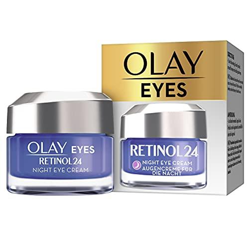 OLAY Eyes Retinol24 Nacht-Augencreme | 15ml | Augenpflege für Glatte und Strahlende Haut | mit Retinol und Vitamin B3 | Parfümfreie Anti Aging Crème | Gesichtspflege für...