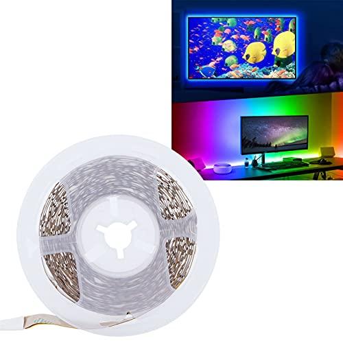 XQAQX Tiras de Luces, Cinta de luz LED, retroiluminación LED de TV, USB Tiras de Luces LED Luz de TV Iluminación de Fondo Barra de Fiesta KTV Lámpara de Humor Decoración del hogar Luz Azul