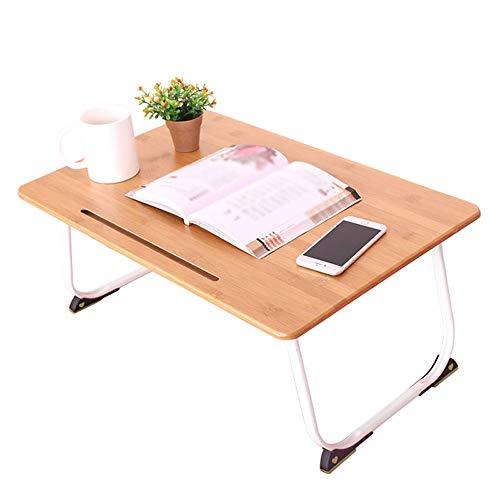 Mesa plegable Mesa de ordenador portátil portátil de soporte interior y exterior de madera Cama Lapdesk con patas plegables adecuados for el hogar y la escuela ( Color : Natural , Size : 60x39x28cm )