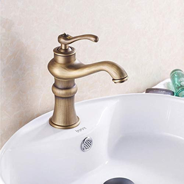 Lddpl Wasserhahn Bad Küche Waschbecken Wasserhahn Antik Bronze Finish Messing Mischbatterie Warm und Kalt Waschbecken Wasserhahn Badzubehr