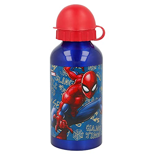STOR 37934 Marvel Borraccia in Alluminio per Bambini 400Ml Spider-Man