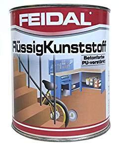 Feidal Flüssigkunststoff, zum Versiegeln und Beschichten von Betonböden, Farbton: Farblos/ 5 Liter
