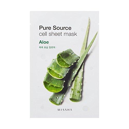 MISSHA Pure Source Cell Sheet Mask Aloe Vera Gesichtsmaske 1 Stück