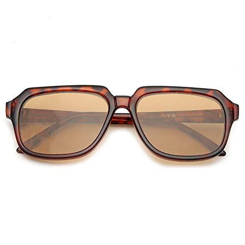 Gafas de Sol Gafas de Sol de Cristal Fino Montura Grande Espejo Plano de protección Completa for los Ojos protección para los Ojos (Color : C)