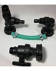 CMTech GmbH montagetechniek *TOP 2er - Set TV2_KH94A * 2-voudige tankverbinding + kraan, IBC-container-toebehoren regenwater-tank-adapter-fitting-jerrycan