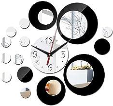 CLMQ CLMZ Frameless DIY Wall Mount Silent Clock 3D Mirror Sticker Wall Clock Modern Design Living Room Decoration Home Off...