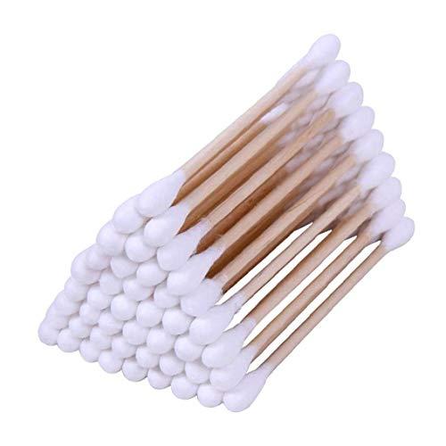 1box (100pcs) Double Tête Écouvillons Multi Usage Bâton En Bois Écouvillons Maquillage Pratique Têtes De Coton Bourgeons