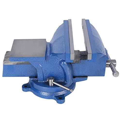 lyrlody - Tornillo de banco de trabajo con apertura de mordaza, 200 mm, hierro fundido, resistente, banco de trabajo con muelle para banco de trabajo, fácil de usar