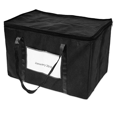 achilles Ordnertasche, Tasche zum sauberen Archivieren von Aktenordnern, Aktentasche für Buchhaltung, schwarz, 50 cm x 30 cm x 33 cm