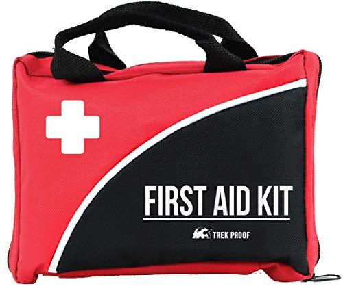 Kit Compacto de Primeros Auxilios – Hogar, Deportes, Trabajo, Oficina, Camping, Senderismo, Barco, Supervivencia, Viajes y Coche – Kit de Primeros Auxilios Pequeño y Liviano