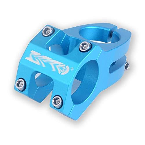 WYJW Vástago de Bicicleta MTB Enduro de Alta Resistencia 45 mm Ligero 31,8 mm Vástago mecanizado CNC/Ajuste para Bicicleta de montaña XC Am MTB (Color: Azul)