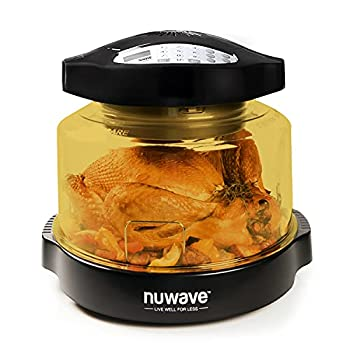 NuWave Pro Plus Oven with Infrared Convection and Conduction  100F-350F  Fits 10 lb turkey  12 in pizza  Air-fry Broil Bake Roast Toast  Dehydrate Warm