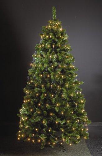 320 LED Trapez Kegel Warmweiß Netz für Weihnachtsbaum Timer 210-250cm Lichternetz