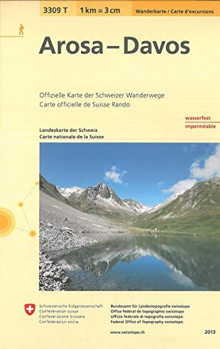 3309T Arosa - Davos Wanderkarte: Arosa - Davos - Chur - Lenzerheide - Klosters (Wanderkarten 1:33 333)