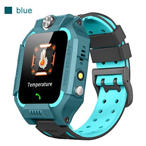 Kinderen Smartwatch Thermometer Waterdicht GPS LBS-tracker met Telefoon Touchscreen Game SOS-oproepcamera Kindhorloge Simkaartsleuf Compatibel iOS en Android,Green
