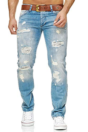 Red Bridge by Cipo & Baxx RB-171 Jeans Distressed Style Helle Waschung Herren Hose (32W / 32L, Blau)