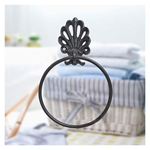 Toalleros De Barra 1PC toalla anillo de hierro forjado redondo estadounidense soporte en forma de toallas de la vendimia for la decoración casera del hogar Baño Toliet Toallero