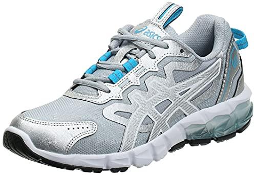 ASICS Gel-Quantum 90, Running Shoe Femme, Pure Silver Aizuri Blue, 37.5 EU
