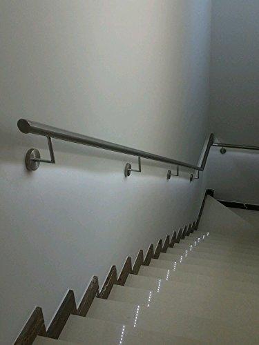 Handlauf Edelstahl mit LED Licht Weiß