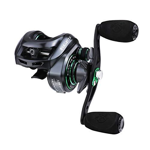 RUNCL Baitcasting Reels Svallet, Baitcaster Fishing Reels - 10+1 Stainless Ballbearings, 7.3:1 Gear Ratio, 17.64LB Carbon Fiber Drag, 10-Level Magnet Braking System for Bass Fishing Freshwater