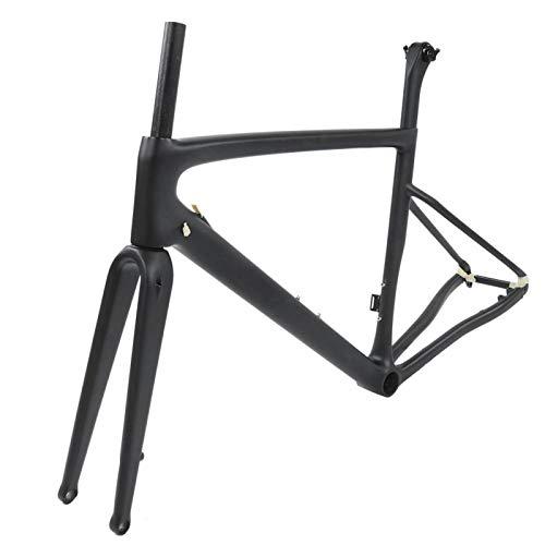 DAUERHAFT Cuadro de Bicicleta de Carretera de Fibra de Carbono Cuadro de Bicicleta de Fibra de Carbono Fabricación Profesional, para Ciclismo, para Bicicleta(54cm)