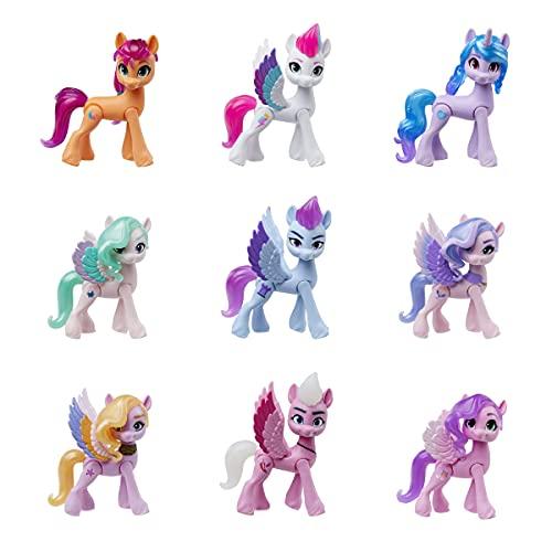 My Little Pony: A New Generation Königliche Gala-Kollektion, Spielzeug für Kinder, 9 Ponyfiguren, 13 Accessoires, Poster