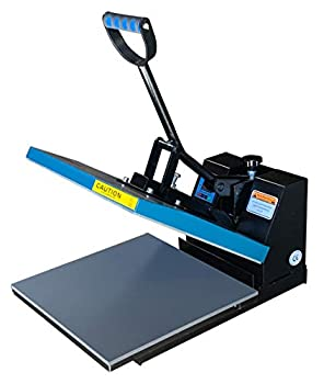 Fancierstudio DG Digital Heat Press Industrial-Quality Digital 15-by-15-Inch Sublimation T-Shirt Heat Press Black DG Heat Press Black Blue
