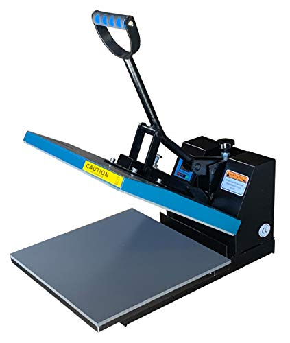 Fancierstudio DG Digital Heat Press Industrial-Quality Digital 15-by-15-Inch Sublimation T-Shirt Heat Press, Black DG Heat Press Black Blue