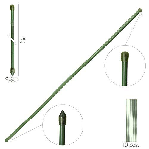 Tutor Varilla Bambú Plastificado Ø 12-14 Mm. X 180 Cm. (