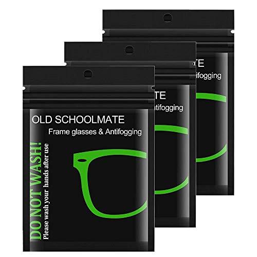 3 Stück Brillenputztuch Antibeschlag Anti-Fog-Tuch Brille Brillenreinigungstücher Reinigungstücher Antibeschlagtuch Microfasertuch für Brille, Kameras, Objektive, Autospiegel
