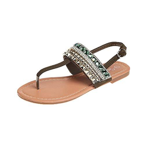 Sandalias De Playa Para Caminar Verdes Sandalias De Viento Nacionales De Verano Para Mujeres Zapatos Planos Casuales Para Mujeres De Gran Tamaño