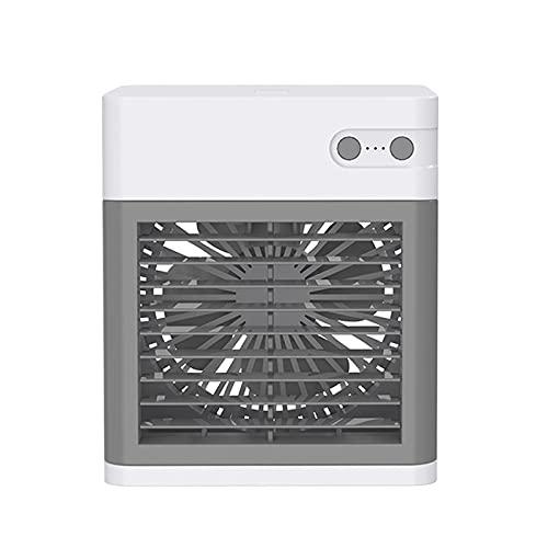 ZJSXIA Ventilador de aire mini aire acondicionado de escritorio portátil mini USB ventilador de refrigeración de agua multifunción humidificador de verano ventilador USB (color: blanco)