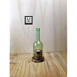Wein Windlicht, Ambiente #2.1 rustikal, abgeflammt