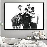 Hip Hop Music Rap Star Ice Cube Old School Art Painting Seda Canvas Poster Wall Home Decor obrazy -50x70cmx1pcs -Sin marco