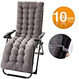Patio Chaise Lounger Cushion, Indoor/Outdoor Chaise Lounger Cushions Rocking Chair Sofa Cushion with 6 Ties,Thick Padded Chaise Lounger Swing Bench Cushion,61Inch