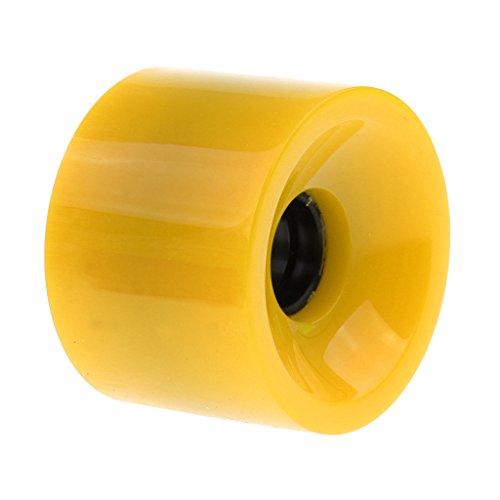 MagiDeal Skateboard Rollen Wheels 70 mm x 51 mm - Gelb