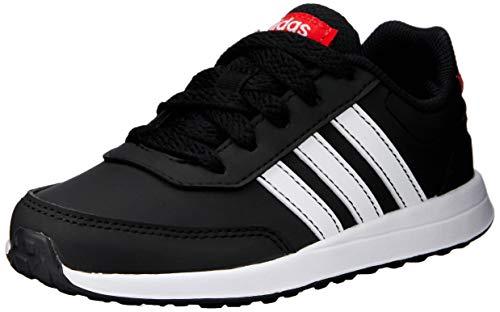 Adidas Unisex-Kinder VS Switch 2 K Sneaker, Schwarz (Core Black/Footwear White/Active Red 0), 36 2/3 EU