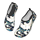 Water Waves Water Shoes Barefoot Skin Shoes for Run Dive Surf Swim Beach Yoga Quick-Dry Barefoot Shoes Black