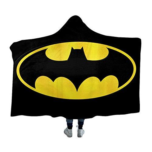 DONL9BAUER Manta portátil Bat-Man, Bat-Man, ropa de cama, sudadera con capucha, abrigada, con capucha, para adultos, niños y adolescentes