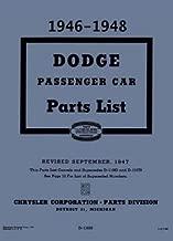 Illustrated Factory MoPar Parts Manual for 1946-1948 Dodge Passenger Cars