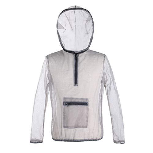 QIjinlook Anti-Moskito Atmungsaktiv Hosen Moskito Anzug Insekten Schutz Mesh Moskito Mückenschutz Kleidung Set mit Netz Handschuh - zum Angeln Camping Outdoor (L)