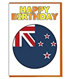 Neuseeland-Flagge – Geburtstagskarte – Fre& – Familie – Kollege – Mate – Boss – Loved One