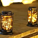 Solar Hanging Lantern Lights, Cylindrical Atmosphere LED Lamp, Waterproof Iron Art Decorative for Outdoor, Patio, Garden, Backyard, Tree, Porch,Nice Gift